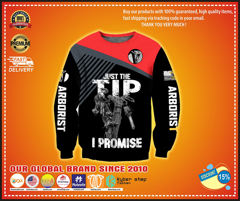 Arborist Just the tip I promise 3d hoodie - LIMITED EDITION BBS