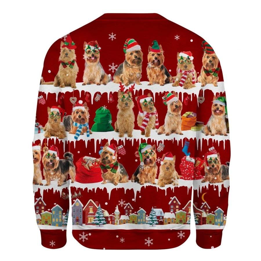 Australian Terrier Dog snow christmas ugly sweater 2