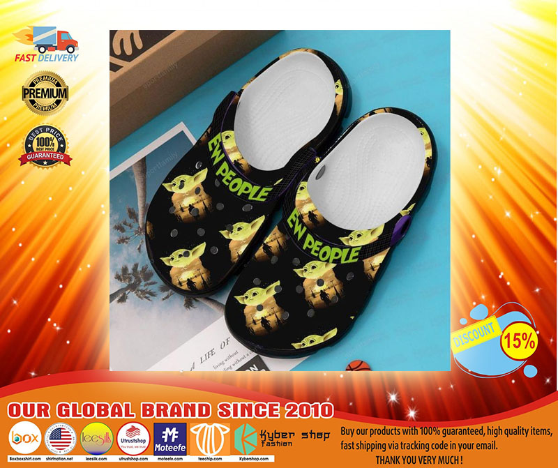 Baby Yoda ew people croc shoes crocband clog - LIMITED EDITION