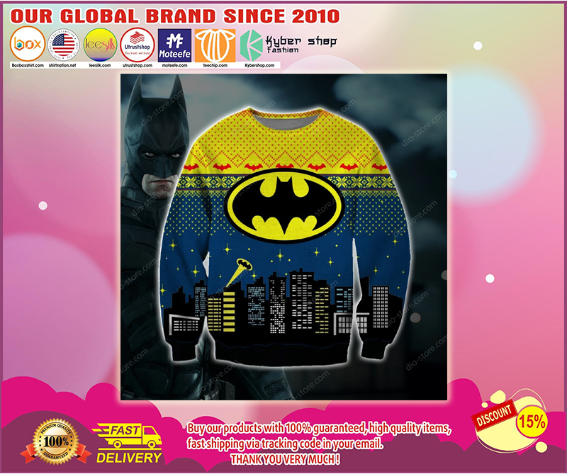Batman 3d print ugly christmas sweater - LIMITED EDITION BBS