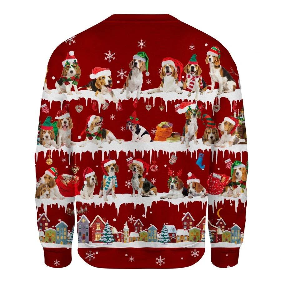 Beagle Dog snow christmas ugly sweater 2