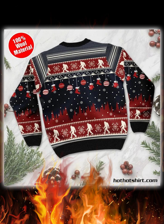 Believe in bigfoot 3d christmas sweater 2