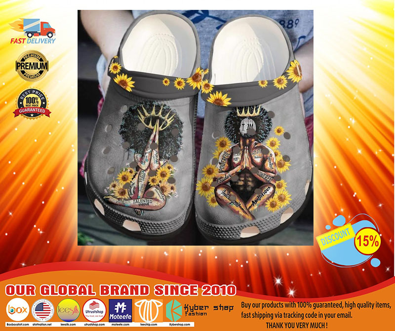 Black king and queen crocs shoes  crocband-LIMITED EDITION