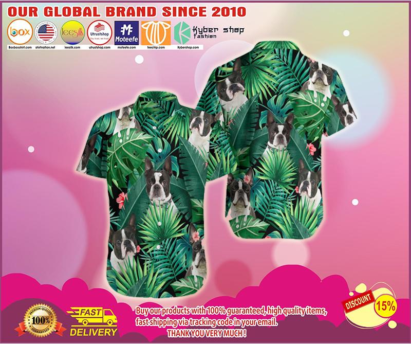 Boston terrier hawaiian shirt - LIMITED EDITION BBS