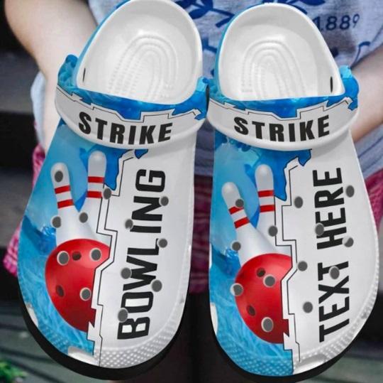 Bowling custom personalized crocs crocband shoes