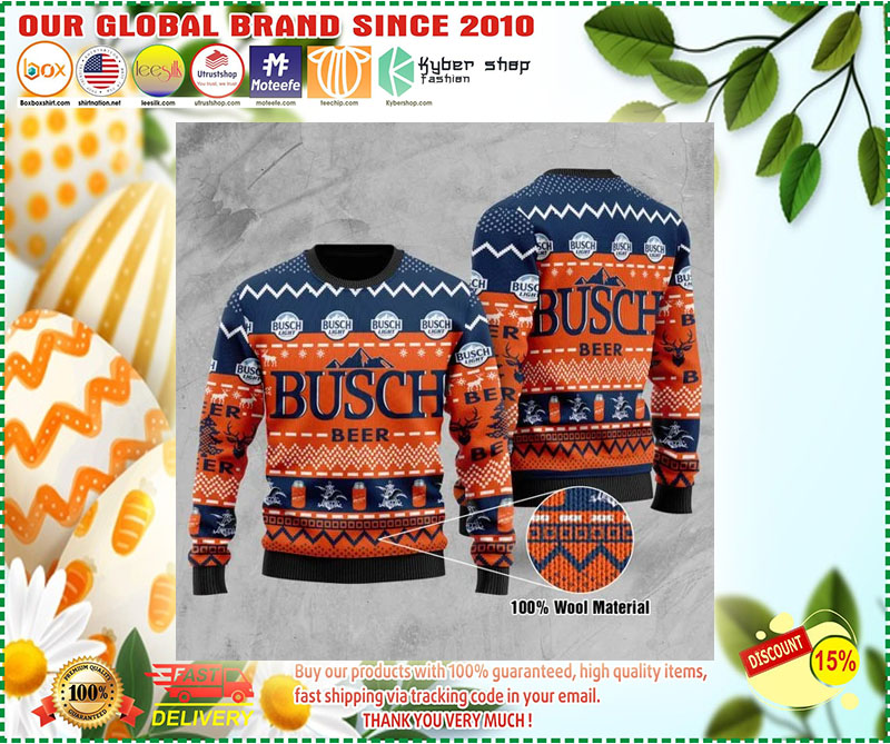 Busch Light Wool Ugly Christmas Sweater - LIMITED EDTION