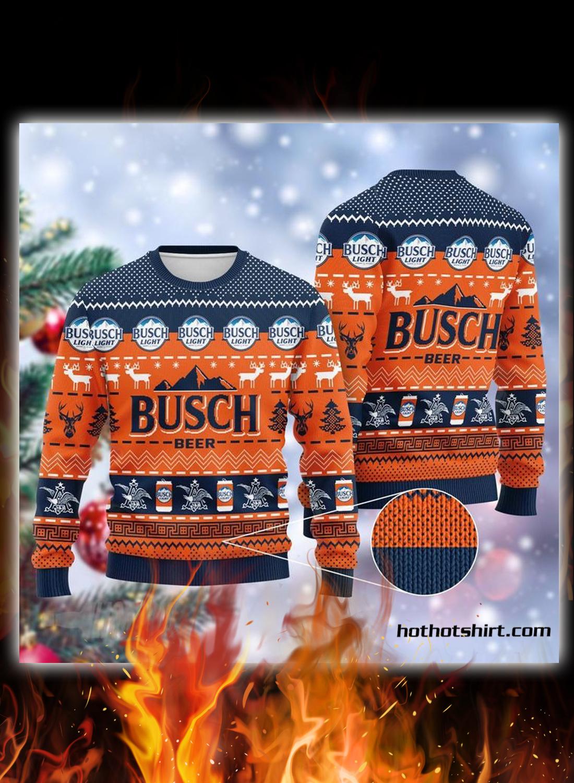 Busch beer 3d christmas sweater