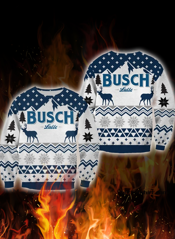 Busch latte 3d christmas sweater 1
