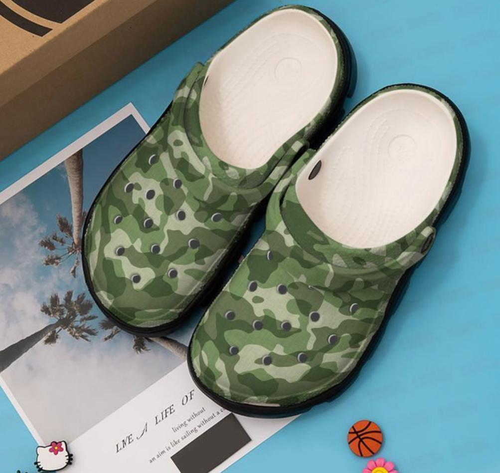 Camo army crocs crocband - dnstyles