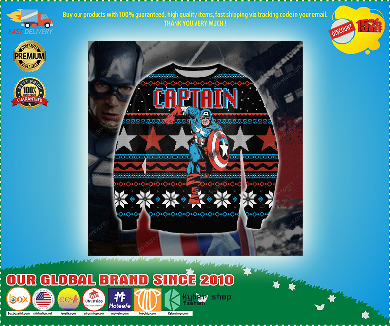 Captain america  3d print ugly sweater - LIMITED EDTION