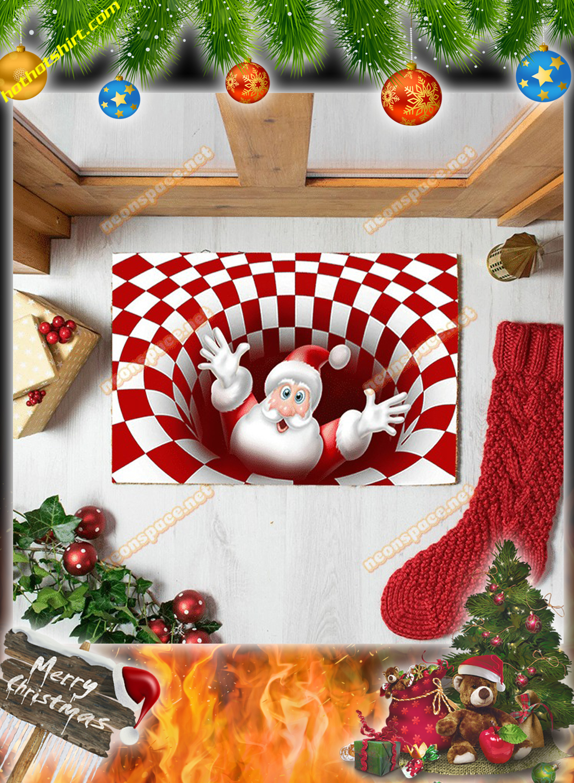 Cheer santa christmas 3D illusion doormat 2