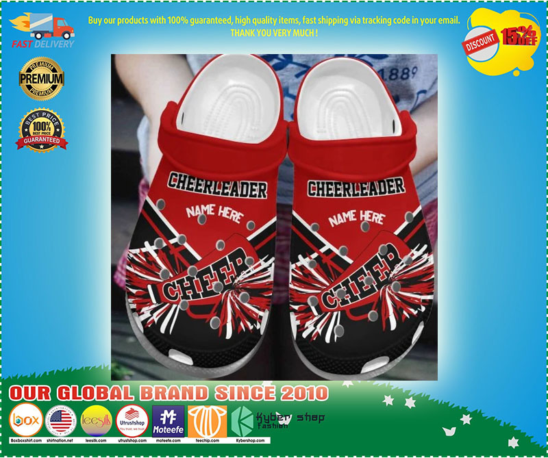 Cheerleader Personalized name croc shoes crocband - LIMITED EDITION