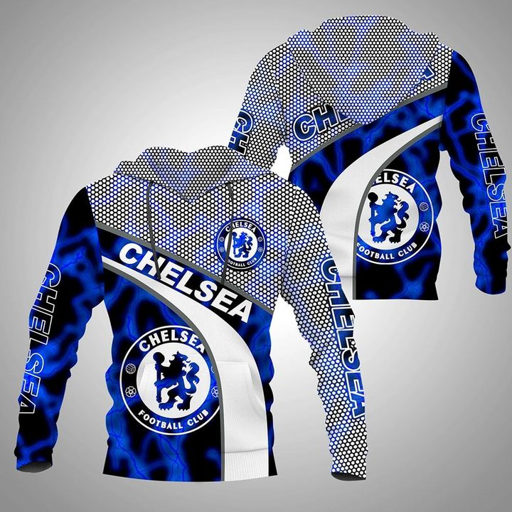 Chelsea FC 3D all over printed hoodie