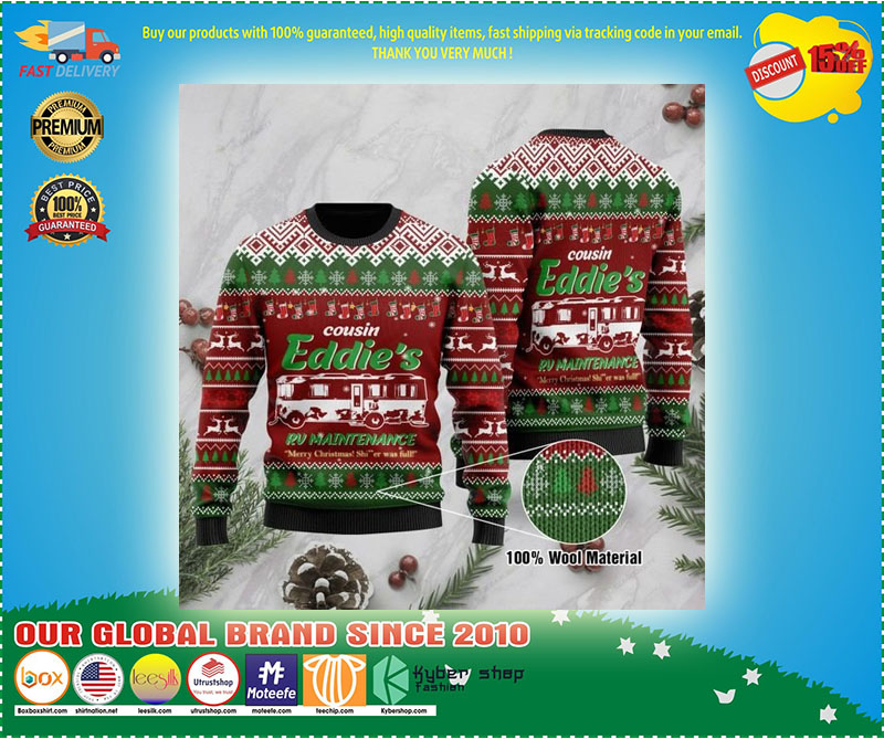 Christmas Vacation Cousin Eddie's RV Maintenance Merry Christmas Shitter was full Ugly Sweater - LIMITED EDTION