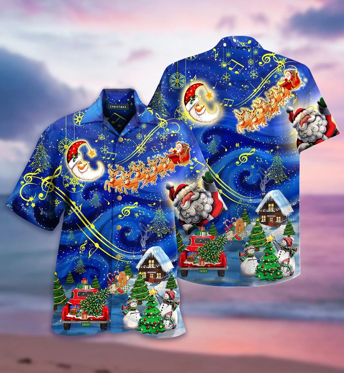 Christmas sky hawaiian shirt
