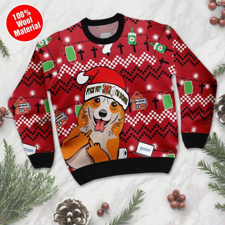 Corgi fuck you i'm done 3d christmas sweater- pic 1