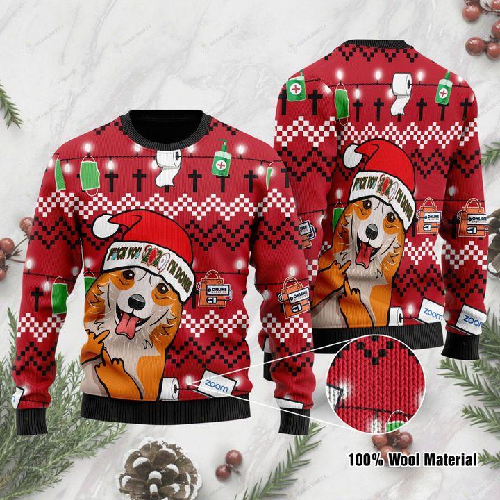 Corgi fuck you i'm done 3d christmas sweater