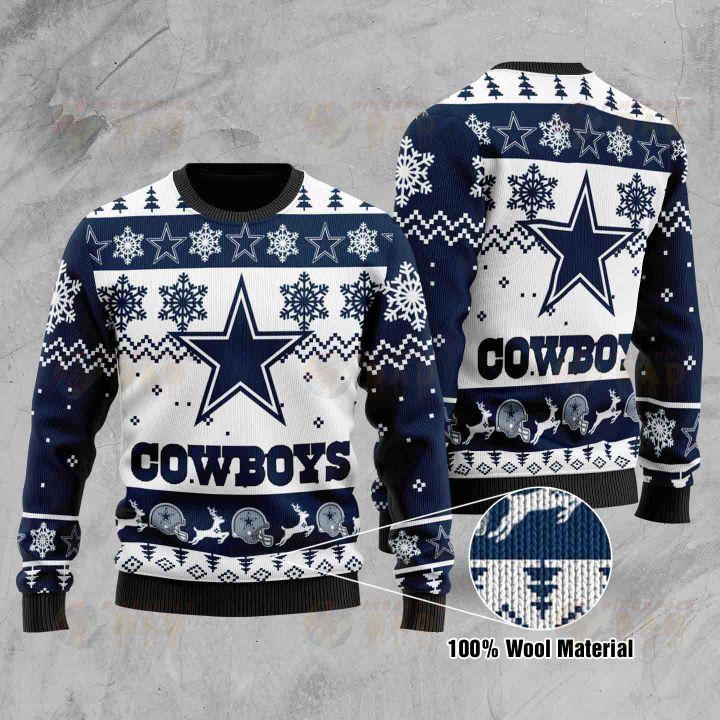 Cowboys christmas ugly sweater