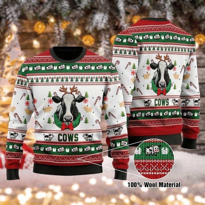 Cows 3d christmas sweater