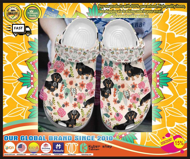 Dachshund croc shoes crocband - LIMITED EDITION