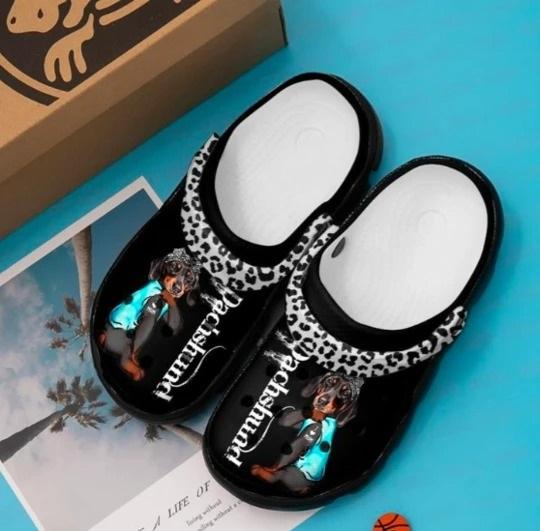 Dachshund crocs crocband shoes