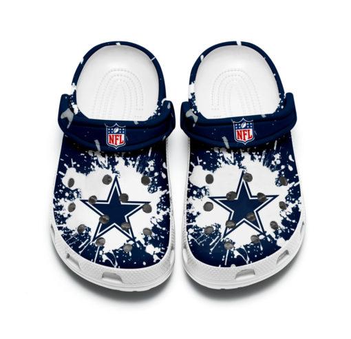Dallas cowboys crocband crocs shoes