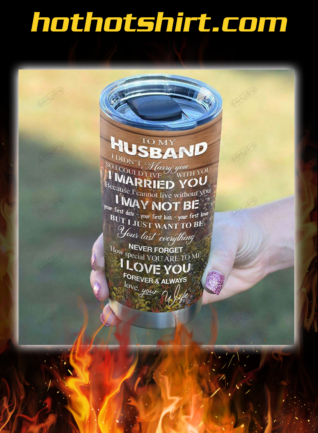 Deer couple to my husband your wife you and me tumbler 2