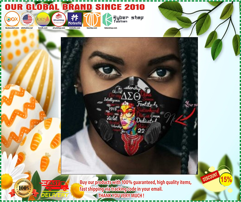 Delta Sigma Theta girl naming filter activated carbon face mask - LIMITED EDITION BBS
