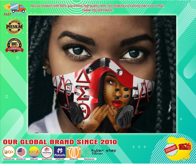 Delta sigma theta sorority filter face mask - LIMITED EDITION BBS