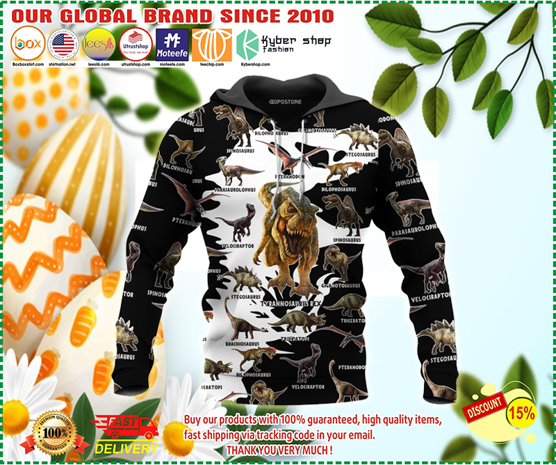 Dinosaur art 3D all over printed hoodie - LIMITED EDITION BBS