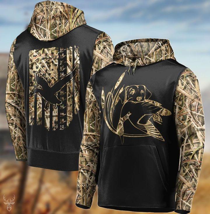 Duck hunting flag 3d hoodie
