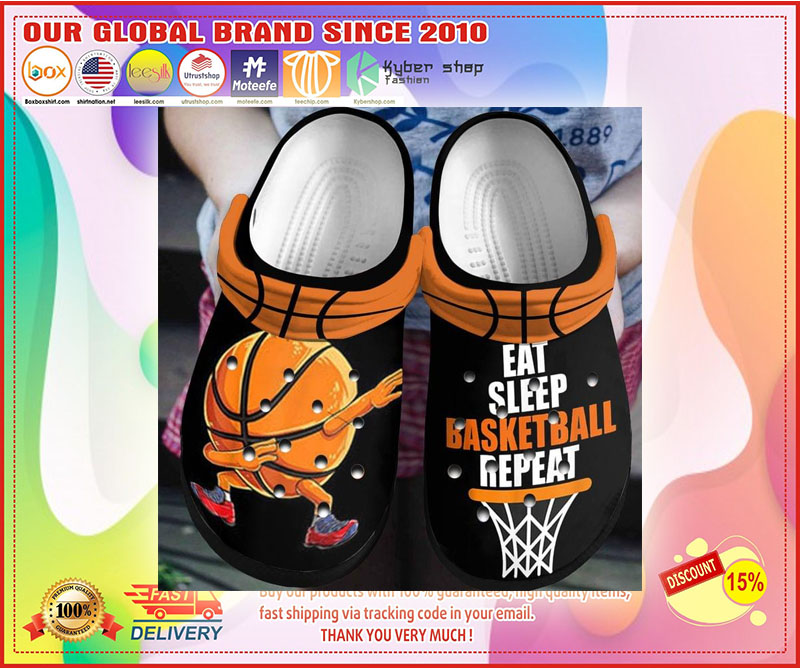 Eat sleep basketball repeat  croc shoes crocband - LIMITED EDITION
