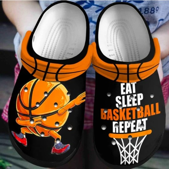 Eat sleep basketball repeat crocs crocband shoes