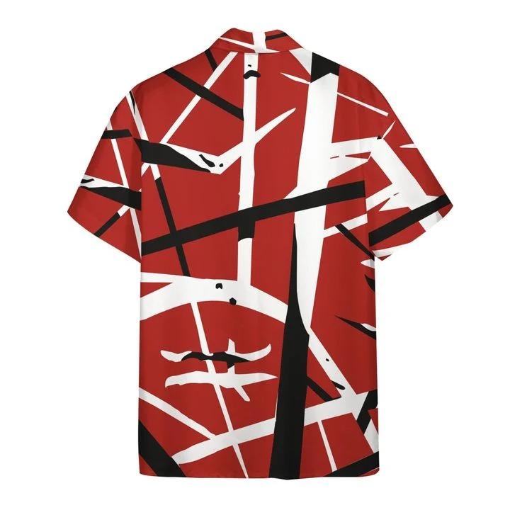 Eddie van halen summer beach hawaiian shirt back