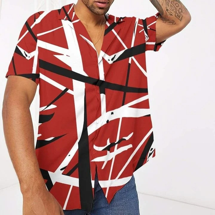 Eddie van halen summer beach hawaiian shirt front