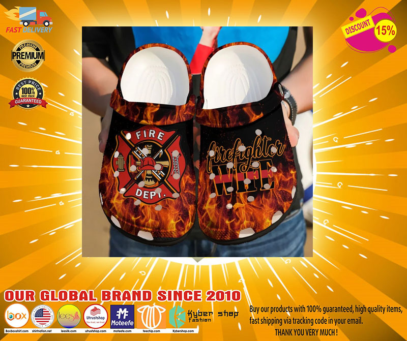 Firefighter crocs shoes crocband-LIMITED EDITION