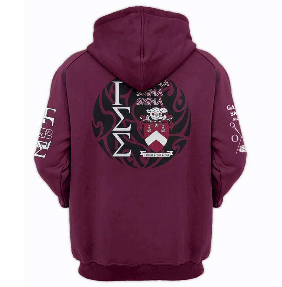 Gamma Sigma Sigma all over printed 3D hoodie - dnstyles