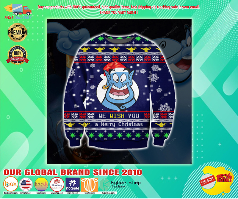 Genie we wish you a merry christmas sweater - LIMITED EDITION BBS