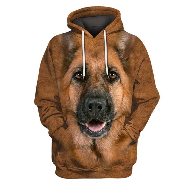 German Shepherd Dog 3D All Over Printed Hoodie