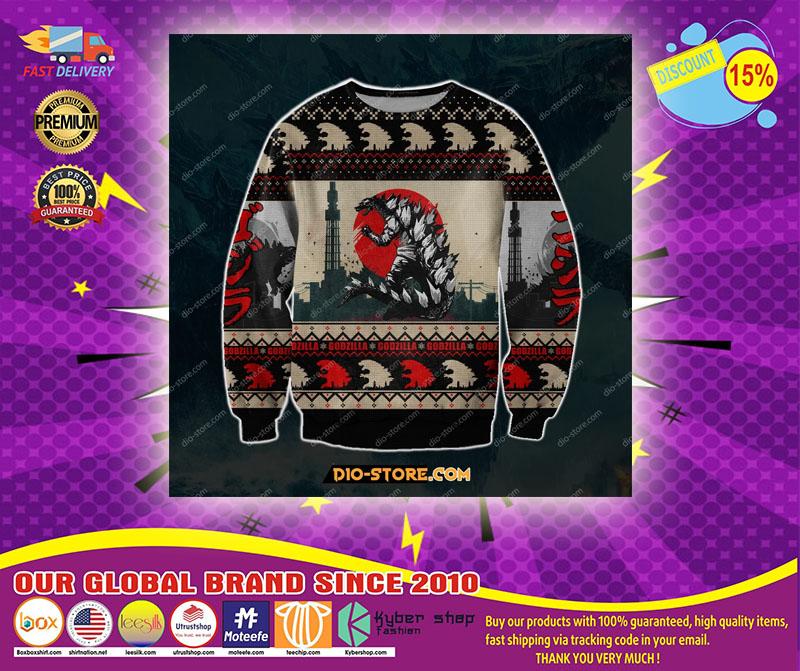 Godzilla ugly Christmas sweater sweatshirt - LIMITED EDITION