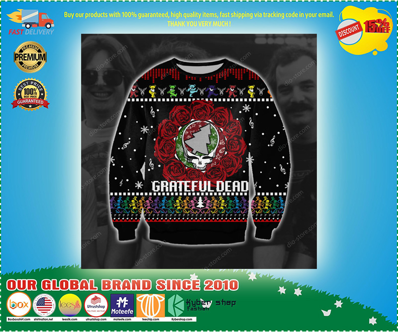 Grateful dead ugly Christmas sweater- LIMITED EDTION