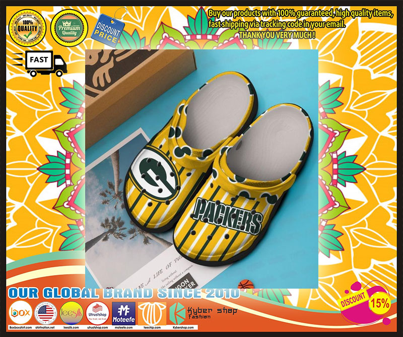 Green Bay Packers croc shoes crocband - LIMITED EDITION
