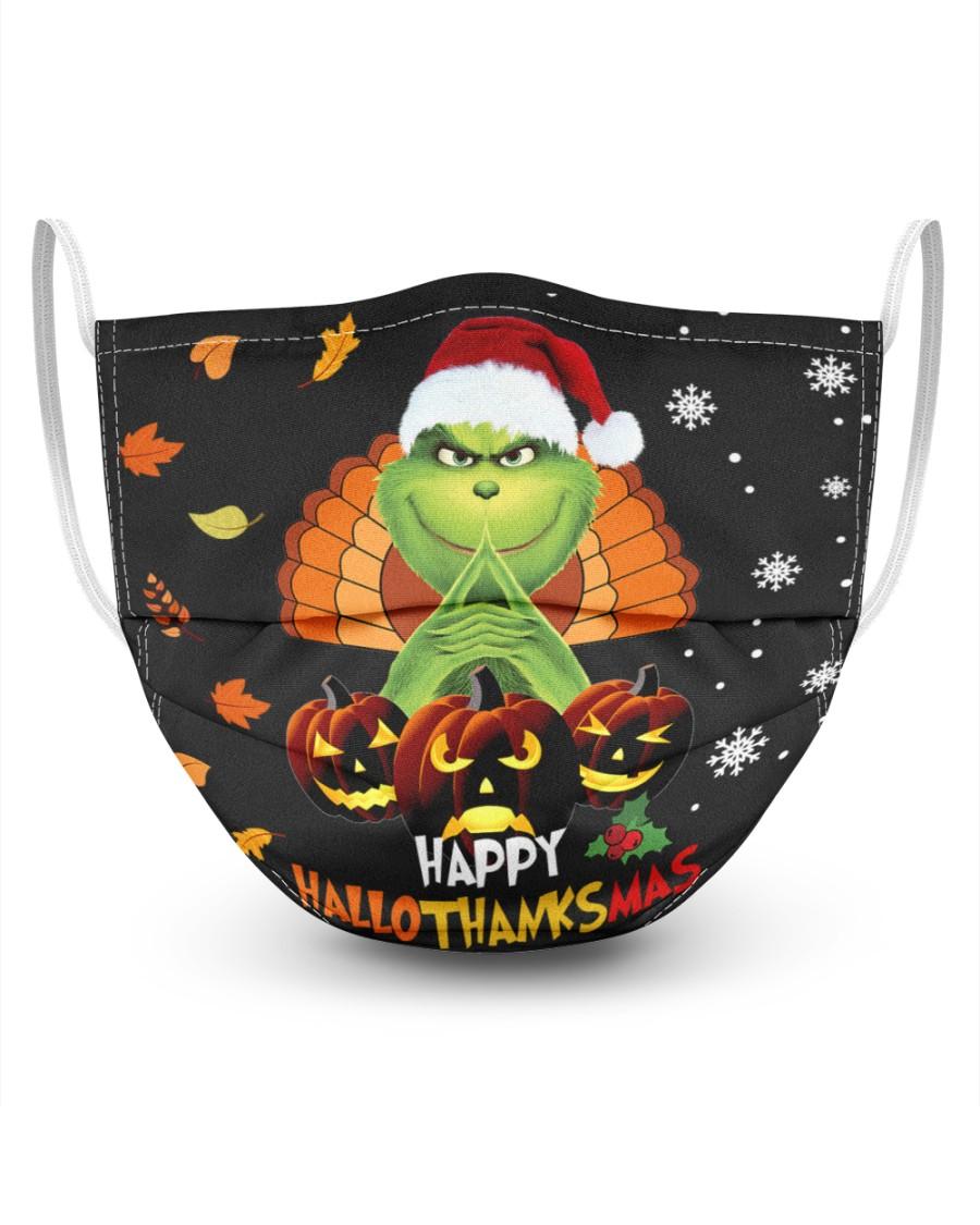 Grinch happy hallothanksmas mask