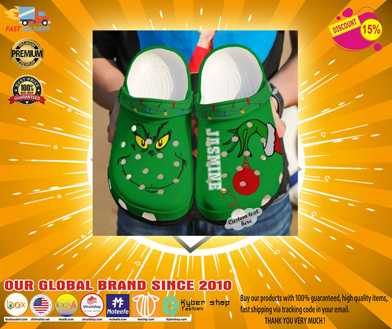 Grinch custom personalized name crocs shoes crocband-LIMITED EDITION