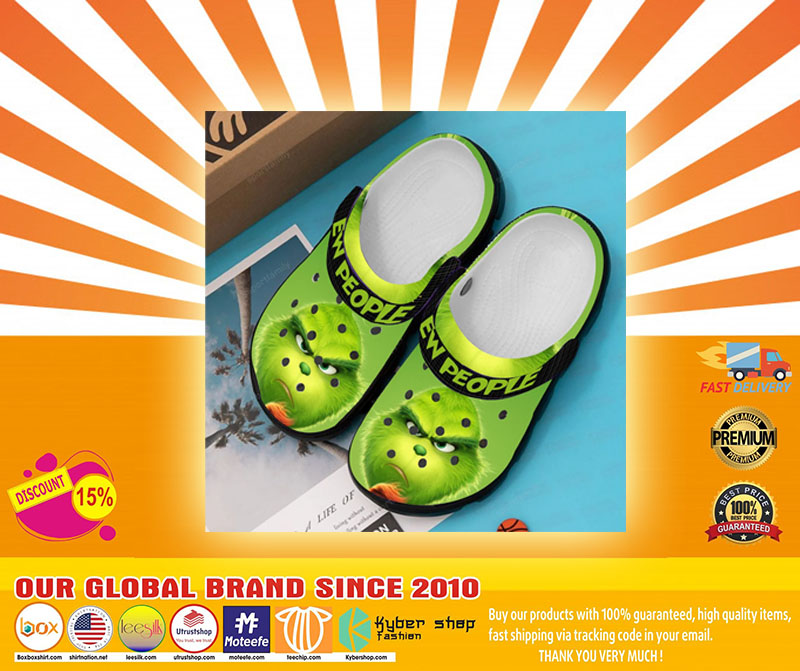 Grinch ew people croc shoes crocband clog - LIMITED EDITION