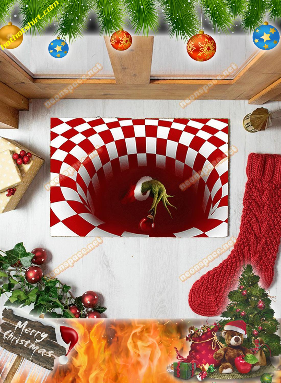 Grinch hand christmas 3D illusion doormat 2