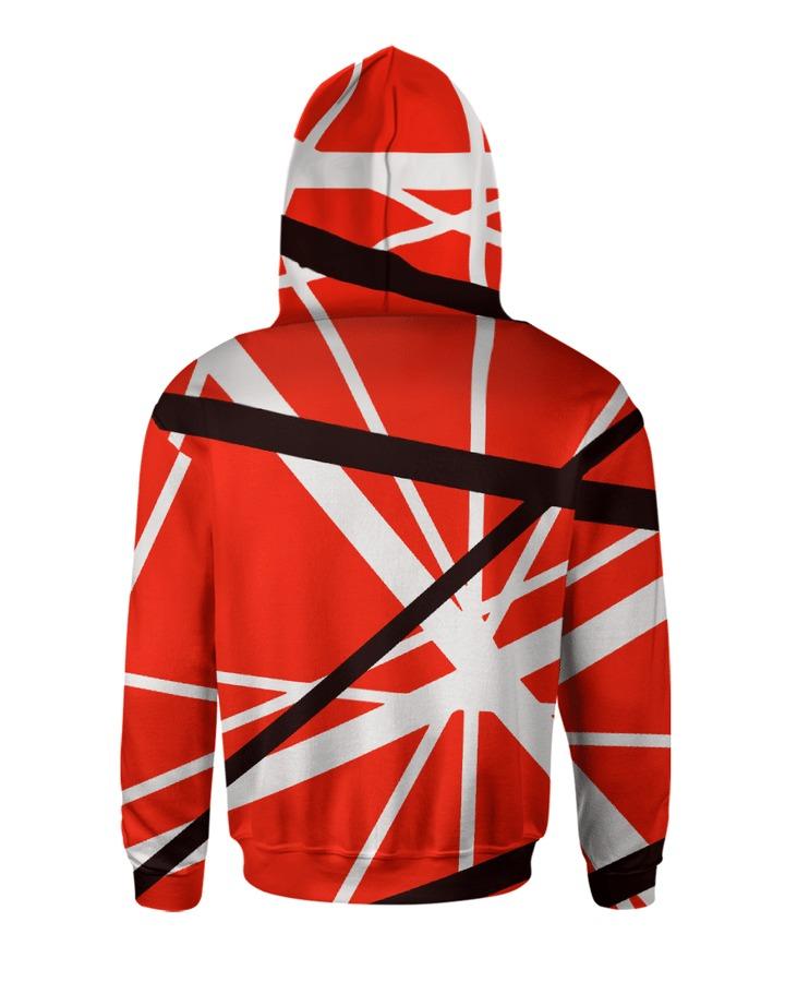Guitar Van Halen 3d hoodie back