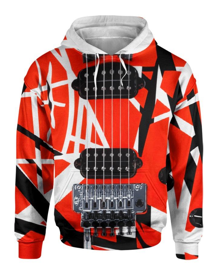 Guitar Van Halen 3d hoodie front