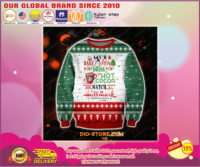 Hallmark christmas movies let bake stuff drink hot cocoa ugly christmas sweater - LIMITED EDITION BBS