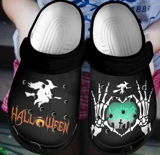 Halloween crocs crocband shoes